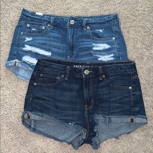 (2) American Eagle denim shorts